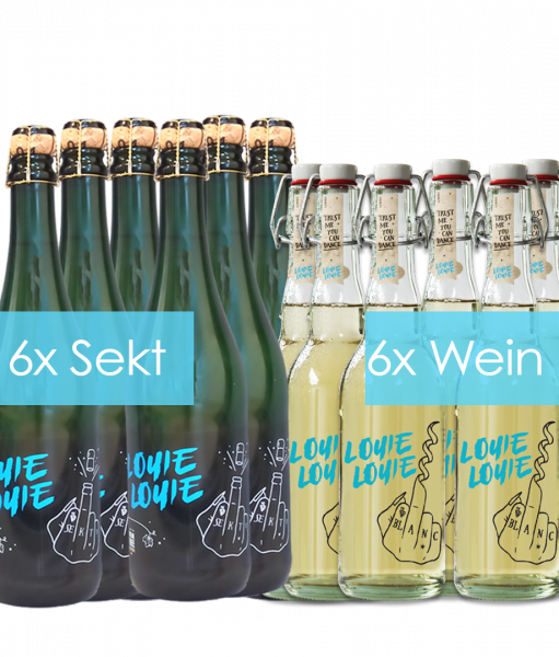 6 Flaschen Winzersekt und 6 Flaschen Weißwein